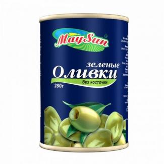 Оливки зеленые без косточки 300мл MaySun