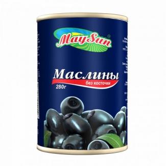 Маслины без косточки 300мл MaySun