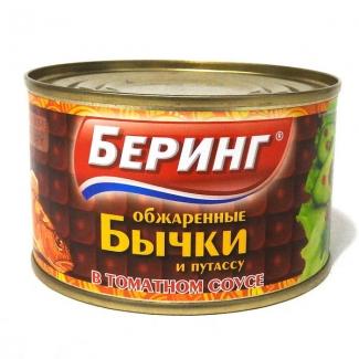 """Бычки и путассу обжаренные в томатном соусе """"Беринг"""""""