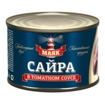 """Сайра в томатном соусе """"Маяк"""""""