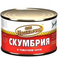 """Скумбрия в томатном соусе """"от Иваныча"""""""