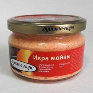 """Икра мойвы в крем-соусе с ароматом копчения """"Лунское море"""" 170гр"""