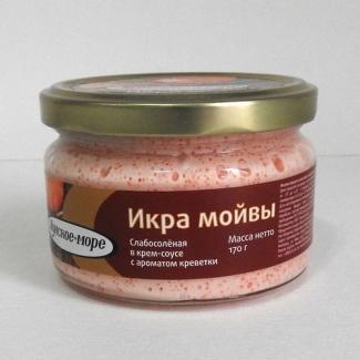"""Икра мойвы в крем-соусе с ароматом креветки """"Лунское море"""" 170гр"""