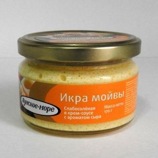 """Икра мойвы в крем-соусе с ароматом сыра """"Лунское море"""" 170гр"""