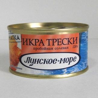 """Икра трески """"Лунское море"""" 120гр"""