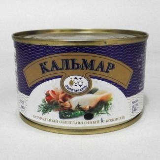 """Кальмар натуральный обезглавленный """"Золотая Сеть"""""""