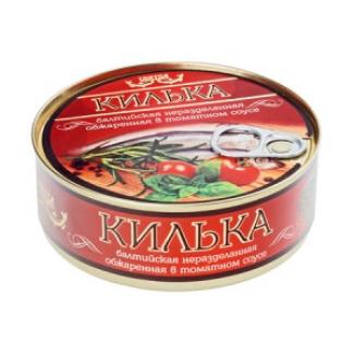 """Килька обжаренная в томатном соусе """"Пролив"""""""