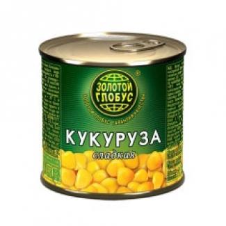 """Кукуруза сладкая 212мл """"Золотой Глобус"""""""
