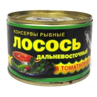 """Лосось дальневосточный в томатном соусе """"41 регион"""""""