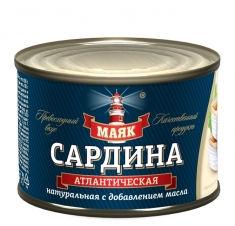 Сардина атлантическая натуральная с добавлением масла