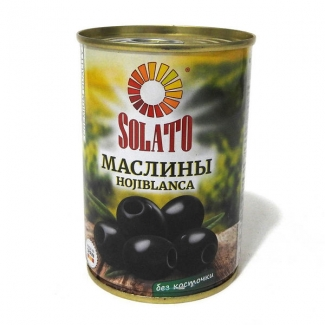 """Маслины hojiblanca без косточки """"SOLATO"""""""