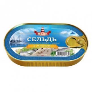 """Филе сельди атлантической с маслом """"Маяк"""""""