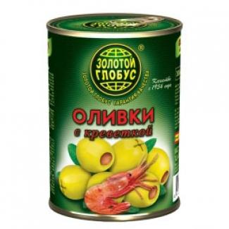 """Оливки с креветкой """"Золотой Глобус"""""""