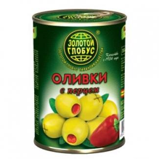 """Оливки с перцем """"Золотой Глобус"""""""