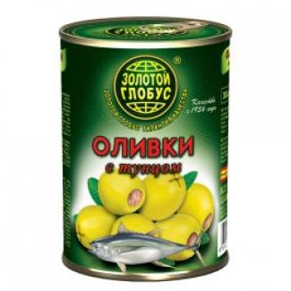"""Оливки с тунцом """"Золотой Глобус"""""""