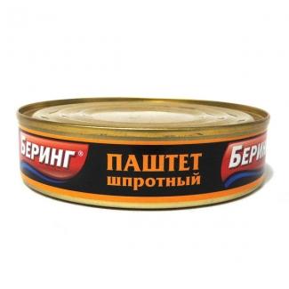 """Паштет шпротный 160гр """"Беринг"""""""