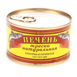 """Печень трески натуральная 200г """"Аквафиш"""""""