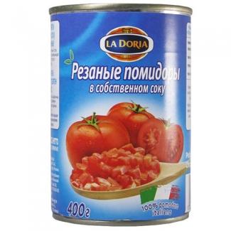 Резаные помидоры в собственном соку 400гр