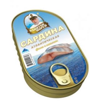 """Филе сардины атлантической в масле """"Капитан Морей"""""""