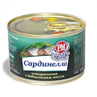 """Сардинелла натуральная с доб. масла """"РосКон"""""""