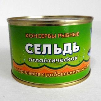 Сельдь атлантическая натуральная с доб. масла