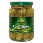 """Огурцы корнишоны 720мл """"Золотой Глобус"""""""