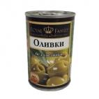 "Оливки зеленые без косточки 300мл ""Royal Family"""