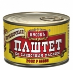 """Паштет печеночный со сливочным маслом 230г """"Кусокъ"""""""