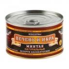 """Печень и икра минтая (ассорти деликатесное) 210г """"Северпродукт"""""""