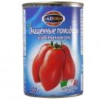 Очищенные помидоры в собственном соку 400гр