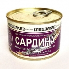 "Сардина атлантическая натуральная с доб. масла ""Спецзаказ"""