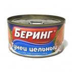 """Тунец цельный в собственном соку """"Беринг"""""""