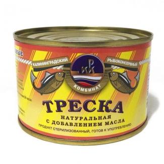 "Треска натуральная с доб. масла ""КРК"""
